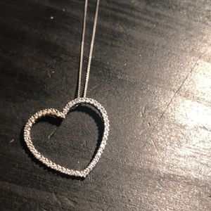 925 and CZ heart necklace